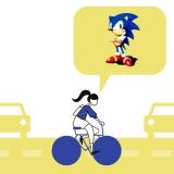Al fietsend denk ik aan Sonic the hedgehog