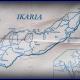 Papieren tafelkleedmap van Ikaria