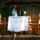 Romantisch gedekte tafel op Leros