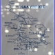 Papieren tafelkleedje met de map van Kalymnos