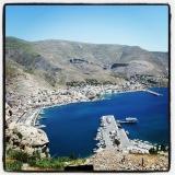 Zicht op Pothia, de hoofdstad van Kalymnos